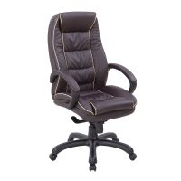 Truro Leather Faced Office Chair. High Back with Integral Headrest. Black, Cream, Burgundy